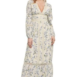 BCBG MaxAzria Dianna Lace-Trimmed Maxi Dress